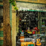 We Buy And Sell, street scene window front by Deborah Nyman